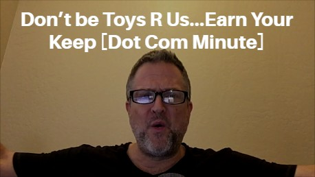 Don't be Toys R Us…Earn Your Keep [Dot Com Minute] http://kennethholland.com/toys-r-us/  #onlinemarketingtips pic.twitter.com/9lZ0xxxBEf