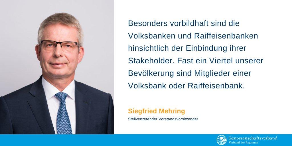 Als Chance für die Genossenschaftsbanken sieht Siegfried Mehring, stellvertretender Vorstandsvorsitzender des Genossenschaftsverbandes, die Nachhaltigkeitsdiskussion. Bankenregulierer sollten derweil aufhören zu versuchen, das Rad neu zu erfinden: https://www.genossenschaftsverband.de/newsroom/presse/pressemitteilungen/nachhaltigkeitsdiskussion-als-chance-fuer-genossenschaftsbanken/…pic.twitter.com/Y0Zl3nSIfK