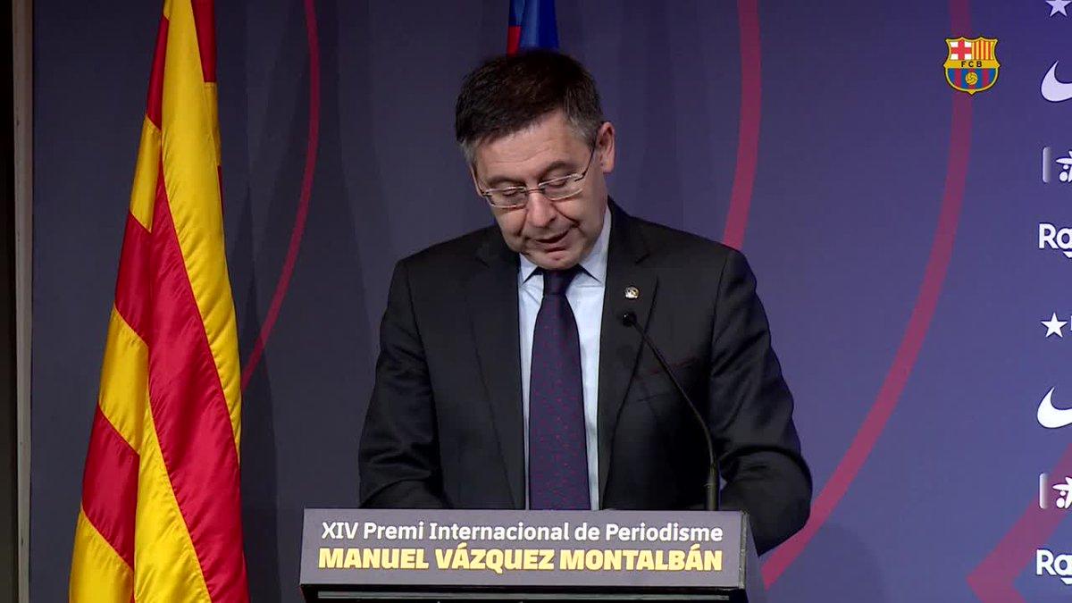 """🔊 @jmbartomeu nie que le Barça """"a engagé quelconque entreprise pour écorner l'image de certaines personnes sur les réseaux sociaux et le Club se défendra par tous les moyens qui sont à sa disposition""""  Plus d'infos 👉 http://barca.link/o6yl50ypjGo"""