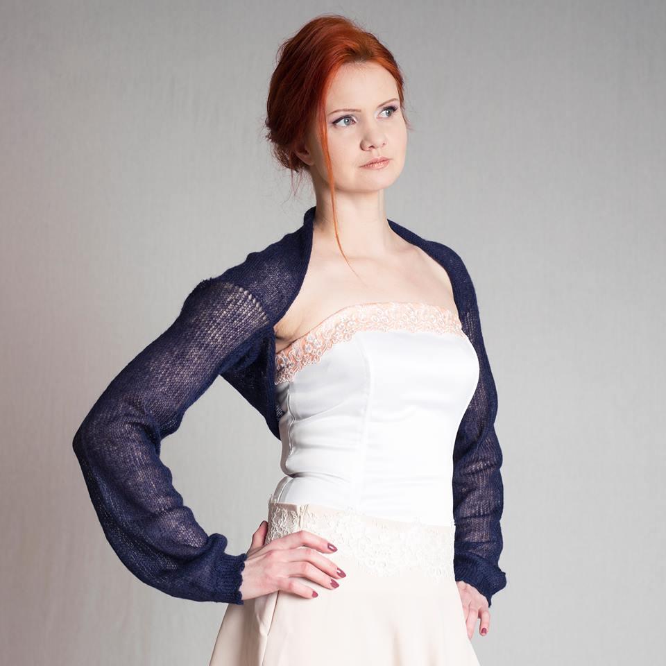 #Wedding #bolero #shrug #Bridesmaidbolero #jacket #knit #mohair #navy #blue #bolero #handmade #supersoftknits  @Etsy