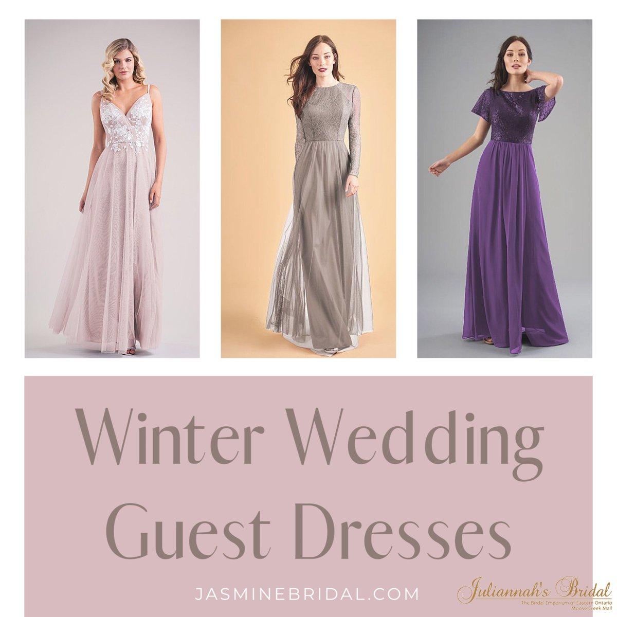Still trying to find something to wear to an upcoming wedding? Jasmine Bridal has some fabulous suggestions!    #juliannahsbridal #bridalshop #weddingdress #wedding #ido #love #bridalboutique