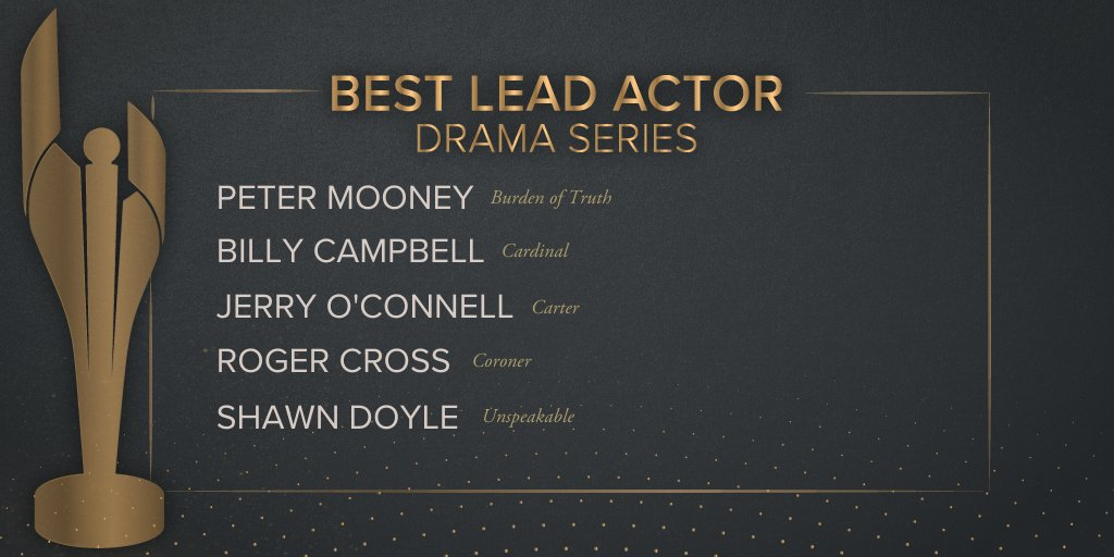 You are following @TheCdnAcademy NOMINATED ACTOR @MrJerryOC LET'S WIN THIS THANG!!! @CTVDrama @CarterInCDN