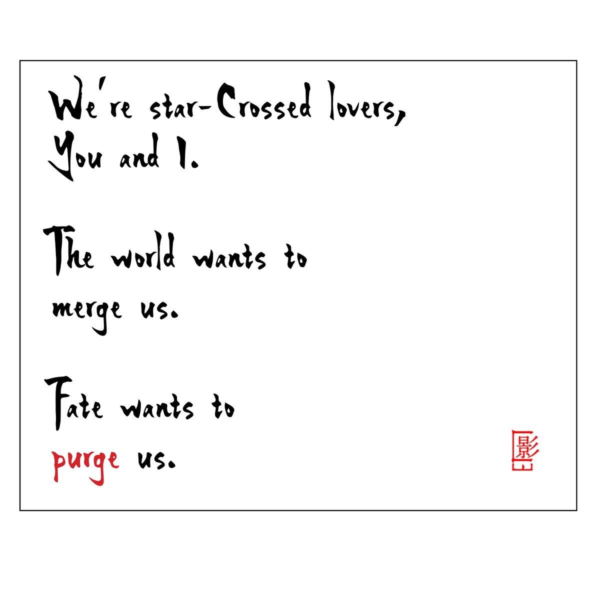 Practico and Emotionette! . #micropoetry #love #RomeoAndJuliet #Reality #microfiction #poetry #poem #writers #amwritingpic.twitter.com/JG6UwjifXW