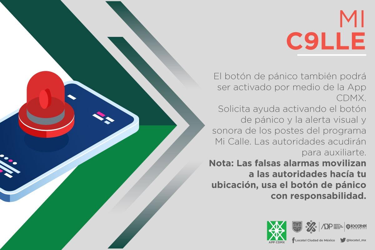 ¿Ya conoces #MiC911e? En caso de que tu seguridad esté en riesgo, activa el botón de pánico en la #AppCDMX o en los postes de seguridad de #MiC911e. Con este sistema de videovigilancia, podrás alertar al @C5_CDMX en caso de una emergencia y recibir respuesta inmediata.