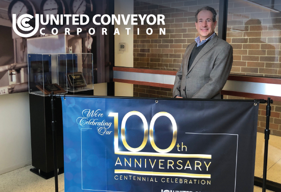 #UCC Sales Representative Alex Bosso, P.E. stopped in all the way from the east coast to help us celebrate our #centennial anniversary.  Thanks Alex! #anniversary #salesteam #100years