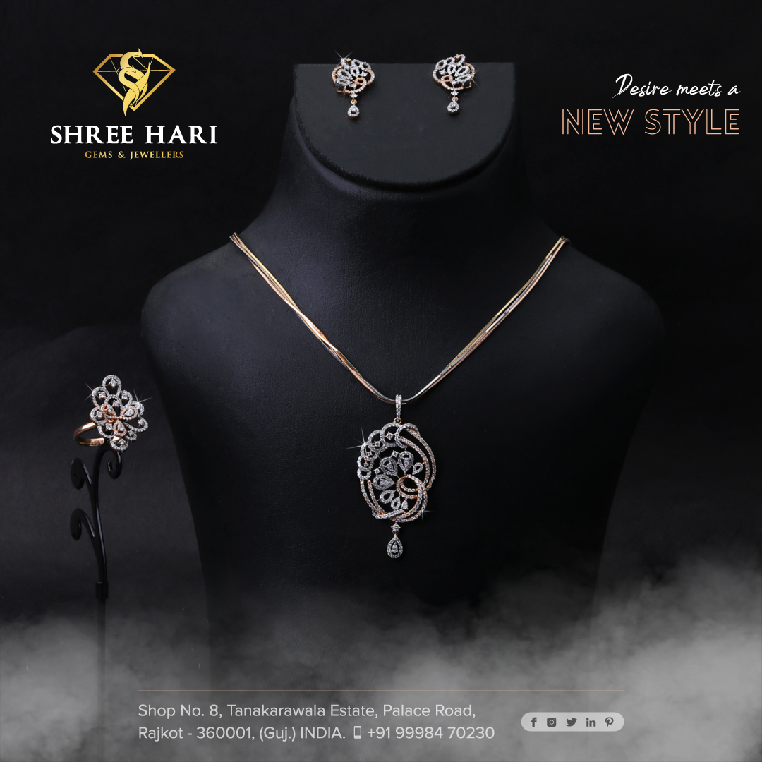Desire Meets  a New Style . . . #ShreeHari #ShreeHariJewellers #Jewellers #Collection #Gold #Silver #JewelryArt #GoldJewellery #Jewellery #Fashion #Gold #Bracelet #Jewels #Style #Accessories #Love #Ring #Wedding #FashionJewelry #Necklace #Earrings #Trendsetter #OnTrend