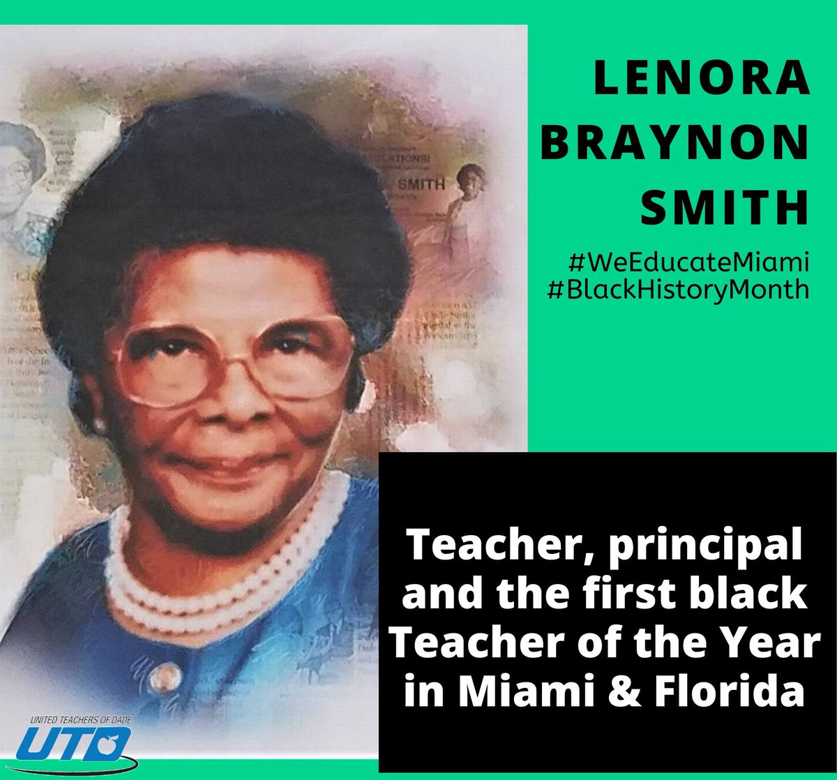"""One may never see a good teacher. It is what happens to those we teach that is important. It is in the child who reaches his potential that we see a good teacher."" #BlackHistoryMonth2020 #tuesdayMotivation #PublicEducation #WeEducateMiamipic.twitter.com/yn84hkskL6"
