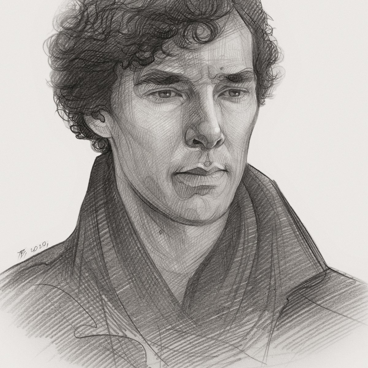 Another portrait of Sherlock. #BenedictCumberbatch #Sherlock #draw #sketch #myart I think not the most perfect, but still share =)pic.twitter.com/C1gWKXt0MF
