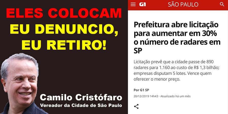 Minha luta contra a #industriadasmultas é desde 2015. Eles colocam. Eu denuncio, eu retiro!  #trânsito #brasil #bomdia #carro #cuidadoaodirigir #CTB  #splovers #sp4you #camilocristofaro #vereador #saopaulo  #Politica