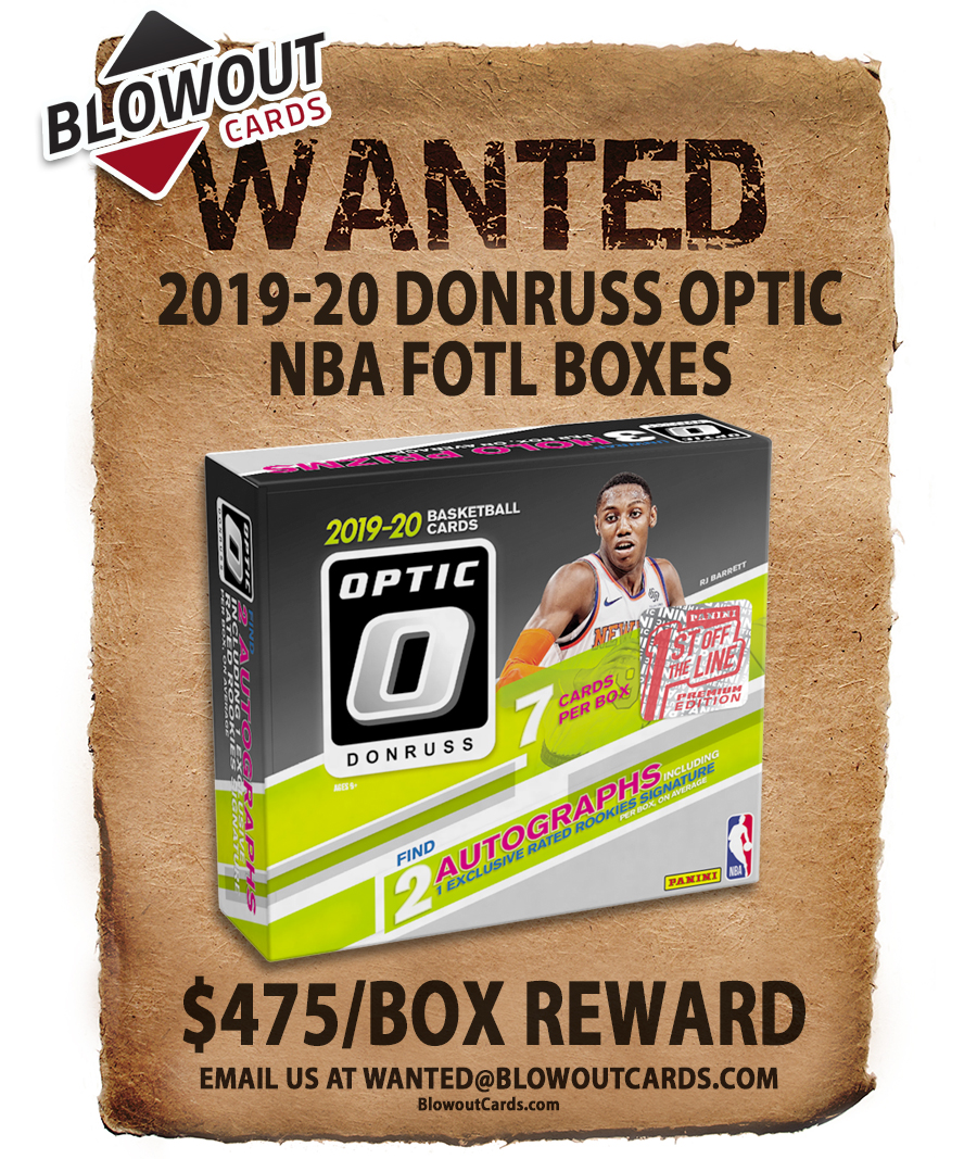New updates.   There are 70+ past Panini boxes in the Blowout's Most Wanted Megapost -- see all here >>  #collect  @PaniniAmerica #TheHobby #NBA #NFL #MLB #FOTL #ZionWilliamson