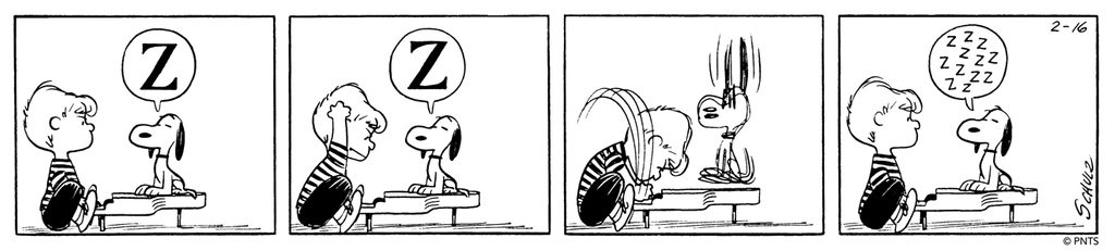 🎹 This Peanuts strip was first published on February 16, 1960. 