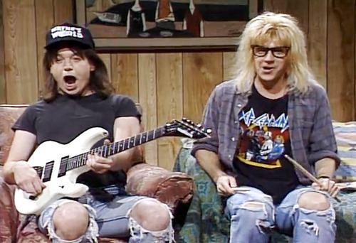 Feb 18, 1989: the very 1st Wayne's World sketch appeared on Saturday Night Live. #80s pic.twitter.com/6oWzbYgW4H