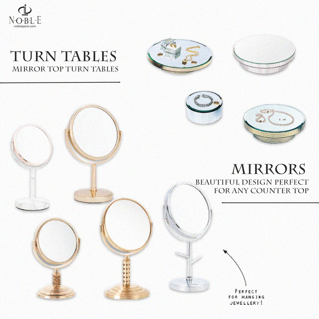 #Supplies #perfect to add that extra star⭐ to your #store at #inexpsensive rates. Turn #Tables  #Luxury #Mirrors  ~Your mission is our #success  #noble #business #design #display #jewelry #jewelers #jewelrydesign #b2b