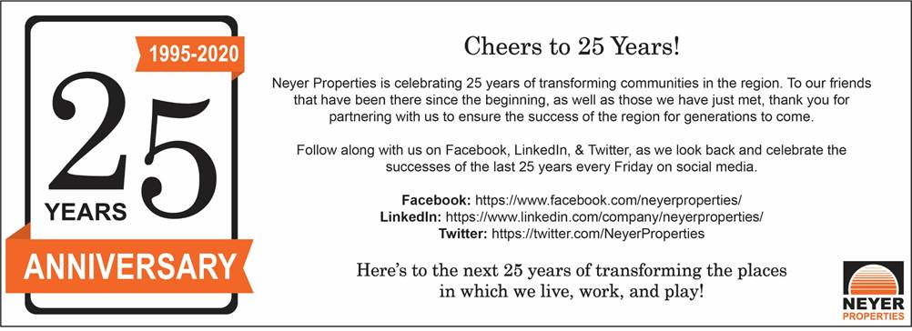 Cheers to Neyer Properties on Celebrating 25 Years of Transforming Properties in the Region! @NeyerProperties  #cincinnati #25years #anniversary #celebration #transformation #property
