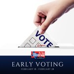 #EarlyVoting begins TODAY! #VoteEarly now through Friday, February 28th. Find a convenient Early Voting location here: https://t.co/Ybl5hipDYv #txlege