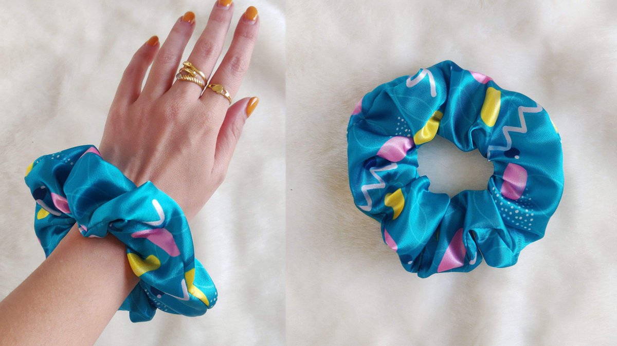 Scrunchies are back, now only if we can bring back the side pony
