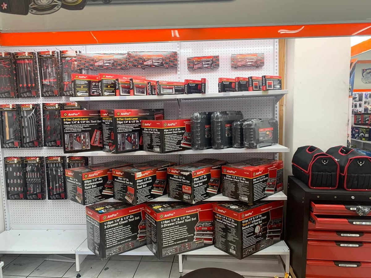 Our @AmPro_SA wall is stocked top to bottom ensuring we have the perfect tools to help you tackle any job!  #fortheloveofcars #AutoParts #CarAccessories #Cars #PetrolHead #CarCare #RideRich #PimpMyRide #RacePrep #TrackCar #EngineSwap #ToolKit