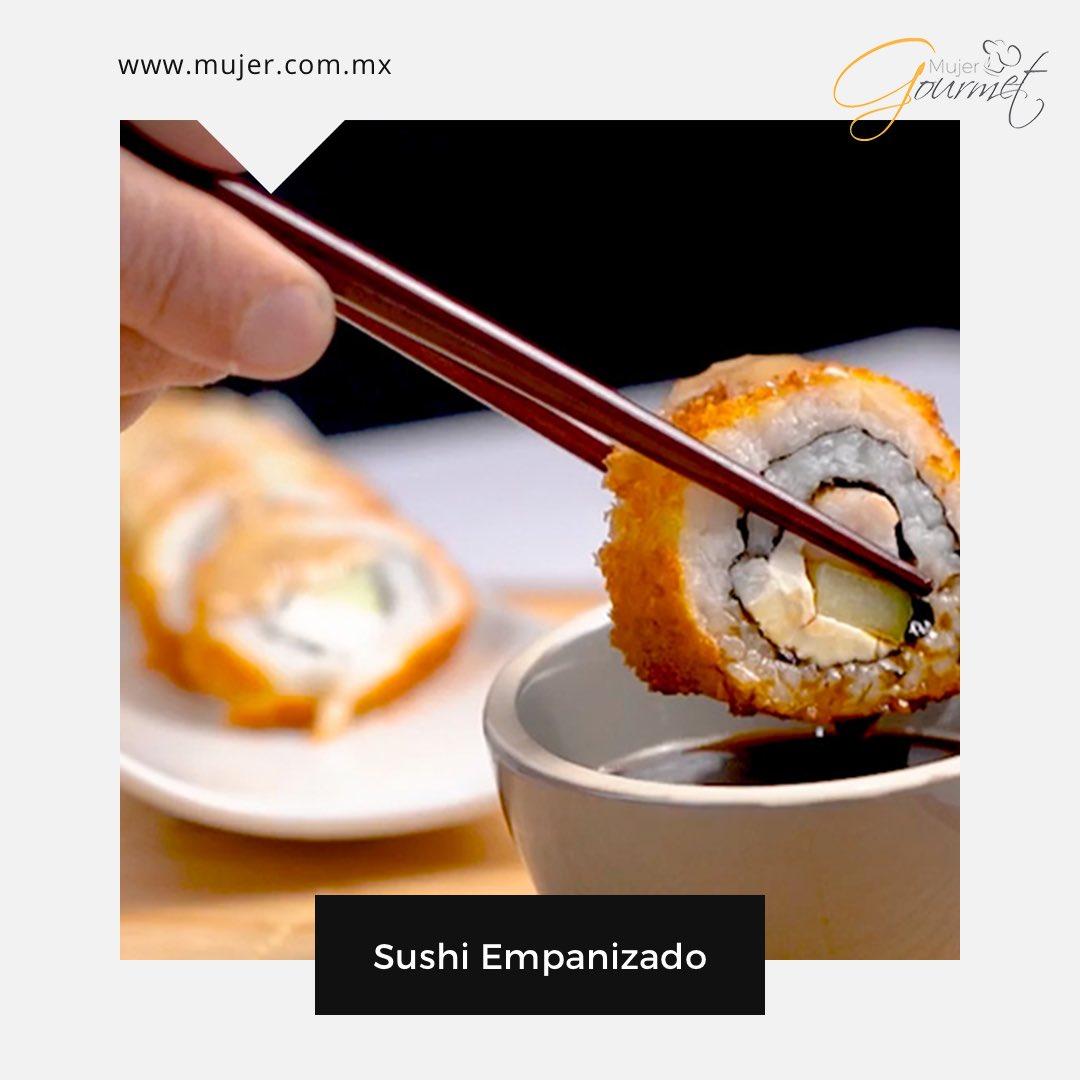 Aprende a preparar los platillos que más te gustan. Este Sushi Empanizado te va a encantar.  Receta:   #sushi #recetas