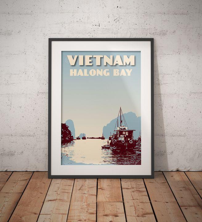 "Featured Art of the Day: ""Vietnam - Halong Bay"". Buy it at: https://www.ArtPal.com/vintagepostertm?i=142970-14…pic.twitter.com/RntOKjK6Up"