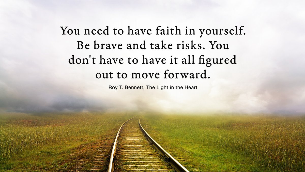 You need to have faith in yourself. Be brave and take risks. You don't have to have it all figured out to move forward.  Roy T. Bennett, The Light in the Heart #TuesdayWisdom #TuesdayThoughts #Inspiration #quotepic.twitter.com/tyK0mVAGr0