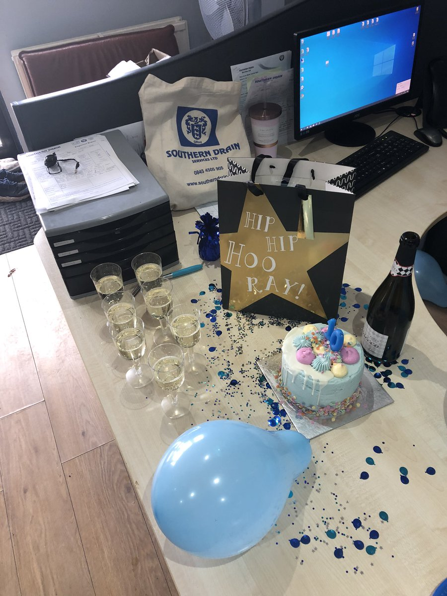 Celebrating Becky's 10th anniversary with Southern Drains today (she requested no photos!!) happy 10 years Becky 💙 #10years #anniversary #Southerndrains