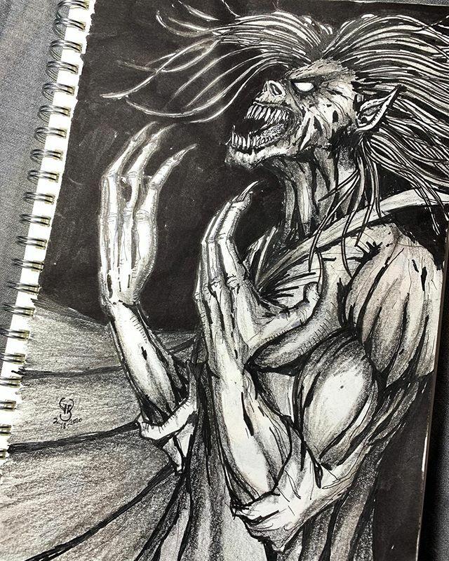 The name's Dracula... . . . . . . #darkart #dark #horror #horrorart #gore #goreart #blackandwhite #blackandwhitedrawing #inkart #inked #pencilart #ink #dracula #vampire #nosferatu #bloodsucker #evil #wicked #conceptart #creative #artistsoninstagram #devi… https://ift.tt/38FrgvZpic.twitter.com/vCq2M2fPsr