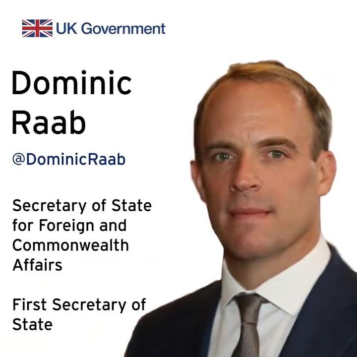Introducing our ministerial team:  @DominicRaab  @JamesCleverly  @ZacGoldsmith  @nadams  @tariqahmadbt  @morton_wendy  @JamesDuddridge  @liz_sugg   Stay up to date: https://twitter.com/i/lists/78761356?s=20…