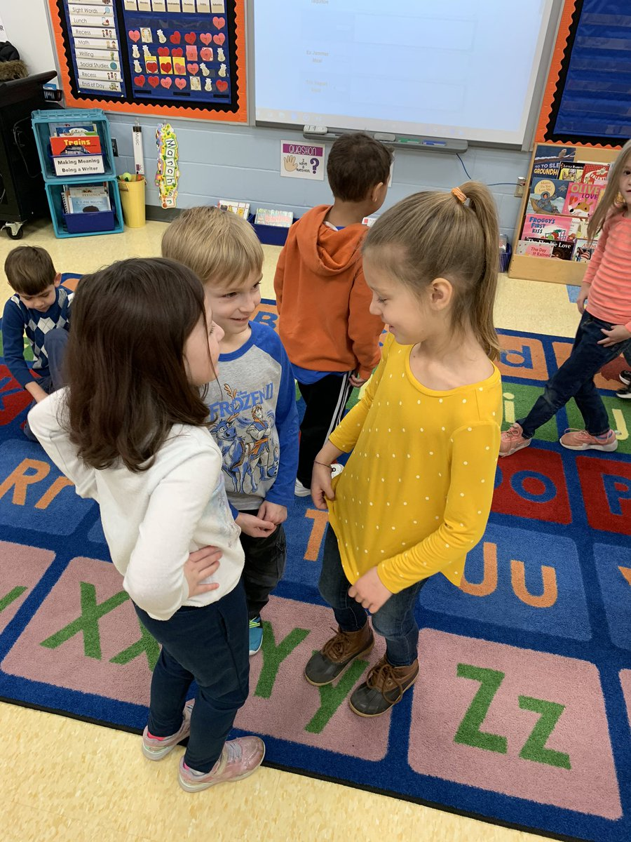 Working on spreading #kindness during our morning meeting and telling our #friends what they have done that is kind. #Kindergarten @WTBobcats #wcconnects