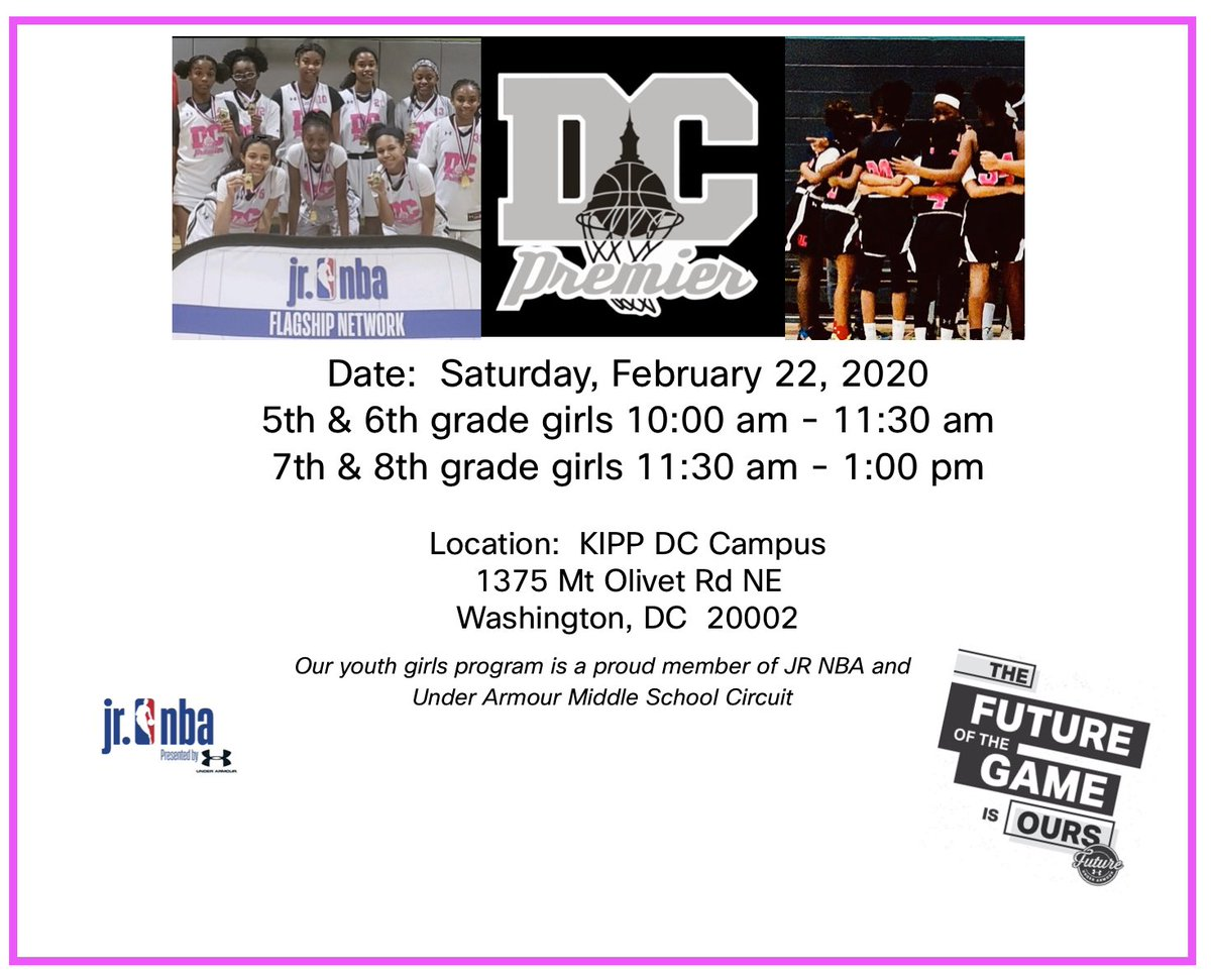 The FUTURE of the GAME is OURS! 5th through 8th grade girls open gym workouts this Saturday, Feb 22nd #DCP #UAFuture #UA #hertimetoplay https://t.co/YYjbltF4sw
