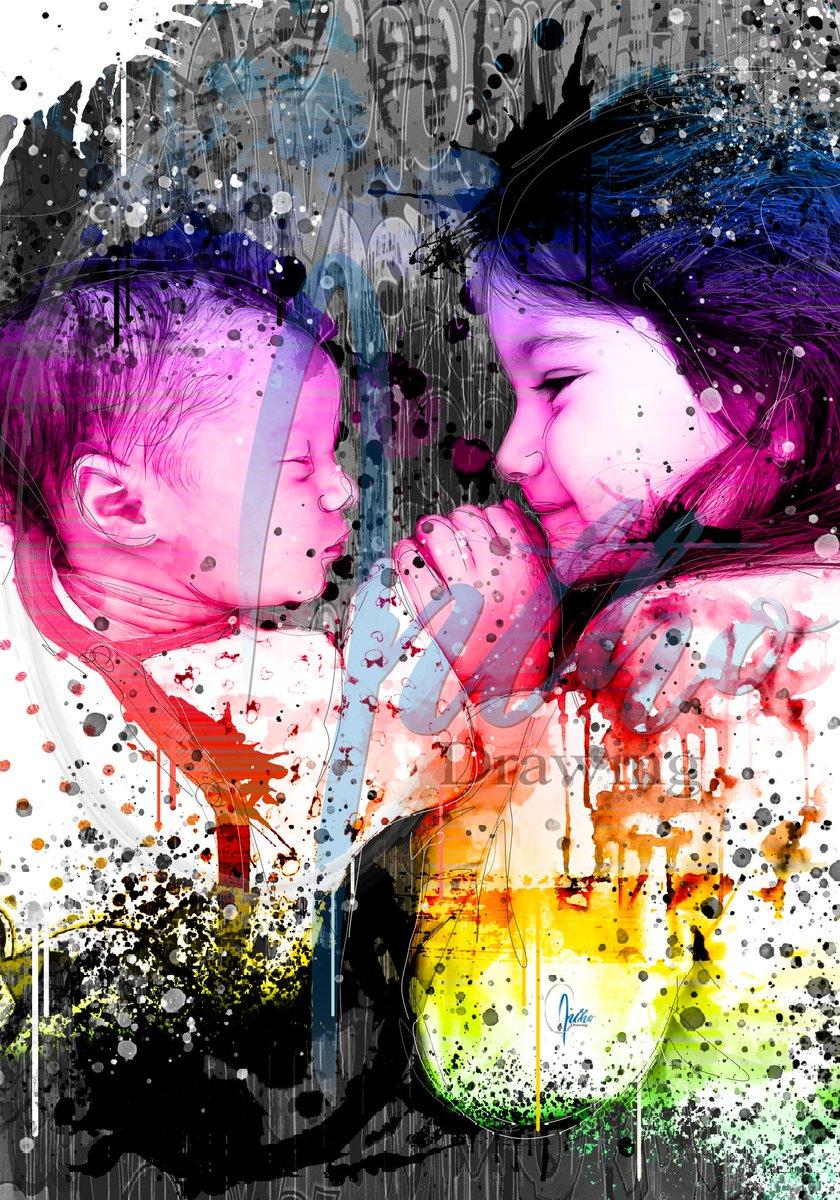 My dauthers #mygirl #photographie #photos #girls #daughter #beauty #beautiful  #pop #fun #love #draws #popart #art #artist #luxe #colorful #streetstyle #streetarteverywhere #graffitiart #vintagestyle #vintagedecor #decorations #deco #print  #artistsoninstagram #artoftheday