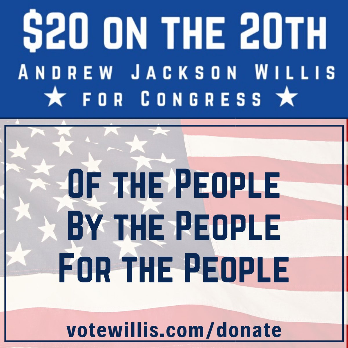 If you want a representative who is truly OF and FOR the People and who will always fight to strengthen and preserve a government BY the People, please consider donating to my campaign.   http://votewillis.com/donate   #votewillis #boughtandpaidforbythepeople #constitutionalrepublic pic.twitter.com/YEcnVyO7Al