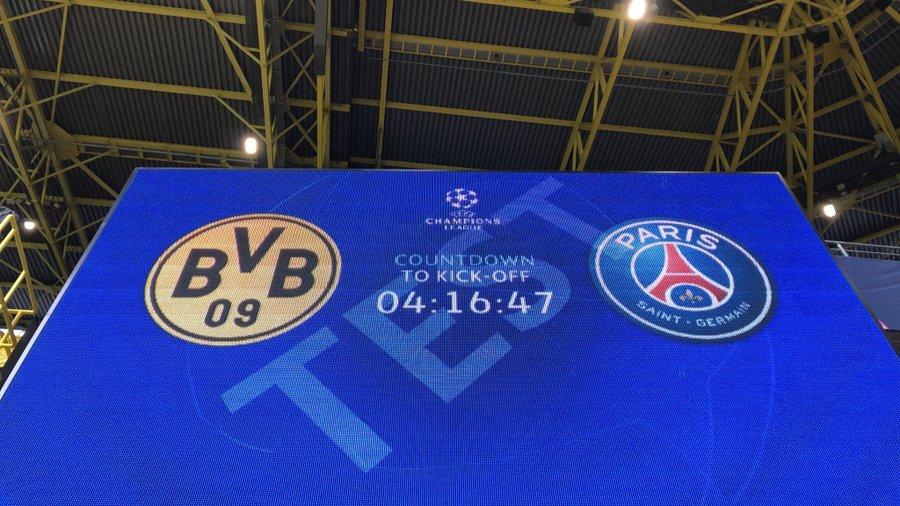 Les compos de Dortmund-PSG