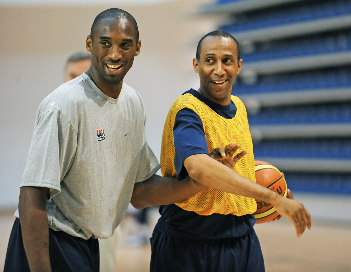 #CoachJohnnyDawkins was a wizard on the court for #DukeBasketball. He was un-guardable.  Speaking of un-guardable, the gentleman in the pic with #JohnnyDawkins is #KobeBryant.   PS I have seen and played with the best... #Kobe is the greatest I have ever witnessed   #USA 🏀🇺🇸