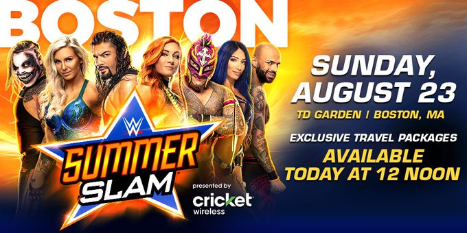 SummerSlam is coming to BOSTON! Don't miss your chance to experience all the action! Get your SummerSlam
