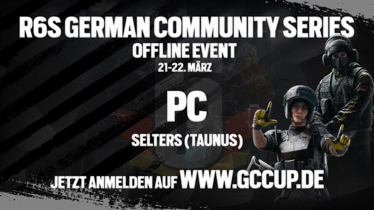 14/16 TEAMS STEHEN FEST ! >>> http://www.gccup.de/turnier/93  Am 21.-22. März offline on Stage mit einem Preispool von über 3.500€! Werde ein Teil der GCS und melde dich und dein Team jetzt an #r6s #gcs #pc  powered by:  @RainbowSixDE @gaimx_germany @Floatinggrip @MAJORFYDEpic.twitter.com/hgUUiq7m1i