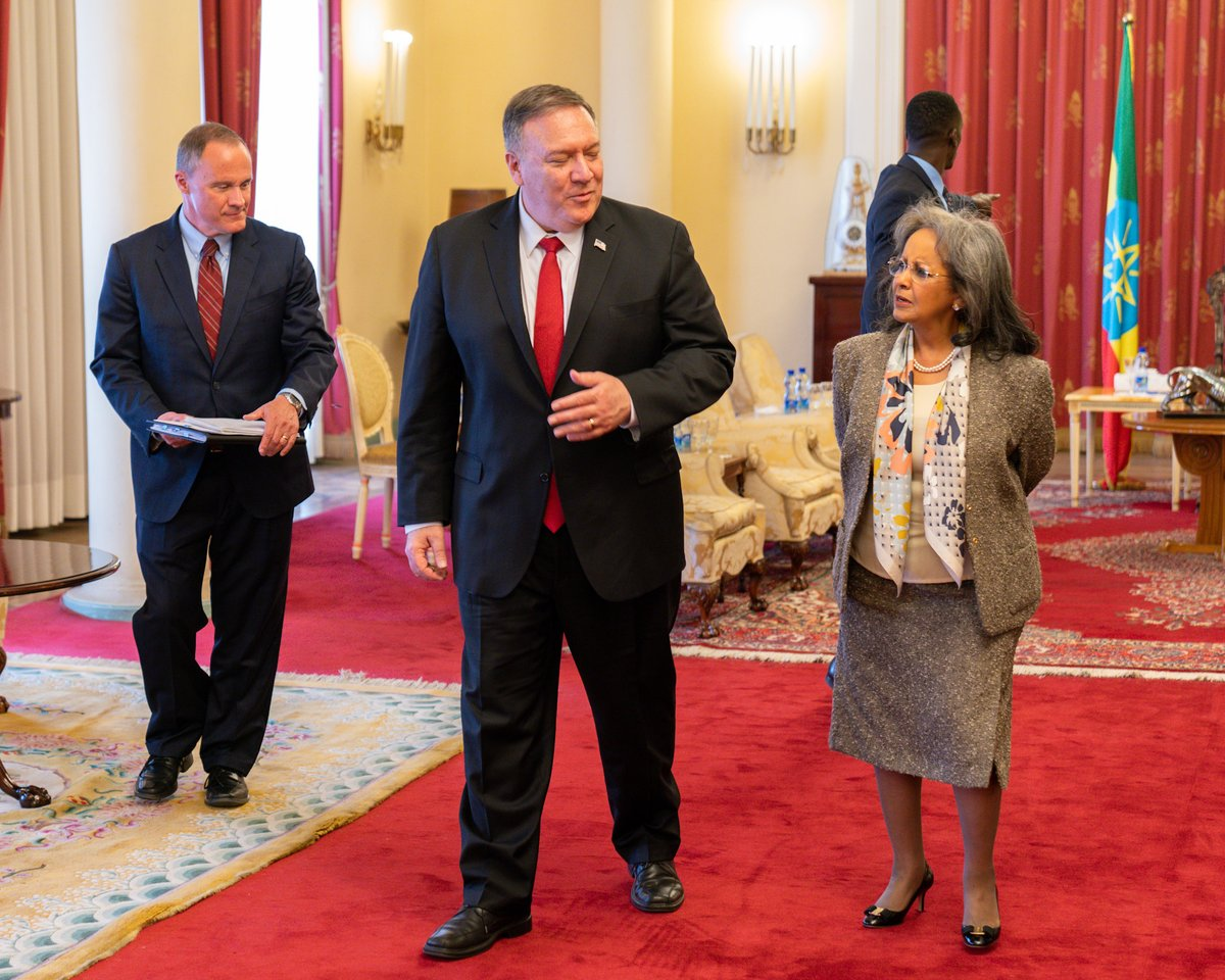 Grateful for the opportunity to convey our deep appreciation for the strong cooperation between the U.S. and #Ethiopia to President @SahleWorkZewde today. I'm happy to acknowledge her strong leadership in advancing landmark political reforms and promoting women's empowerment.
