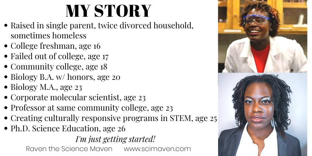 I've come a long way in 10 years. As I grow older, I've learned the importance of being #transparent and #tellingyourstory. Visit http://scimaven.com to learn more about me and what I do as a champion of #diversity and #innovation in #STEM education.pic.twitter.com/bDr6x1Knyp