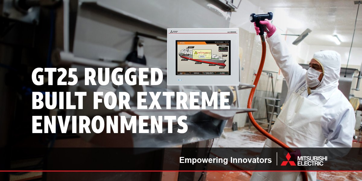 The GT25 Rugged #HMI is reinforced with numerous features such as superior vibration and shock resistance and an extra bright LCD screen for use in strong sunlight; but wait, there's more!! Learn more here: