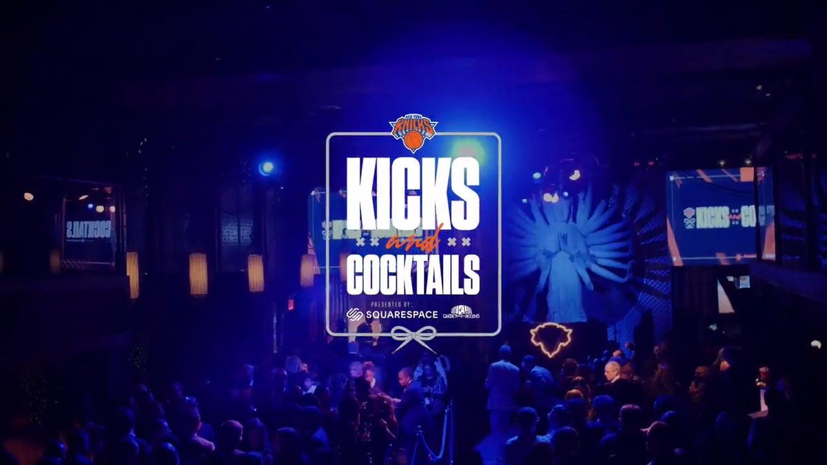 The first of many 🎥 (@squarespace)   Take a look back at our Knicks Kicks & Cocktails night benefitting @gardenofdreams.