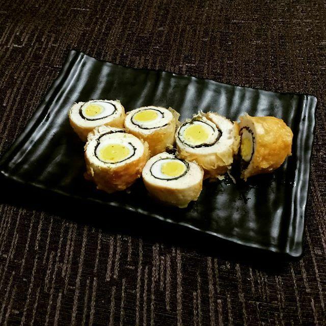 🍣🥚Dragon Eye Rolls  #Quail #egg #SushiRoll #Sushi #KawaSushi