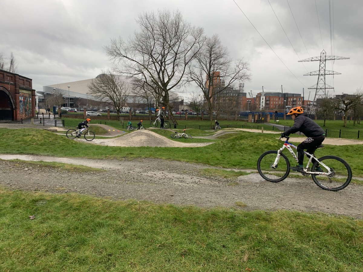 Braved the rain and hail for a spot of Mountain Biking and now onto our final session of the day in BMX.  Who will brave our Start Hill?! pic.twitter.com/Qq5jbrY09L