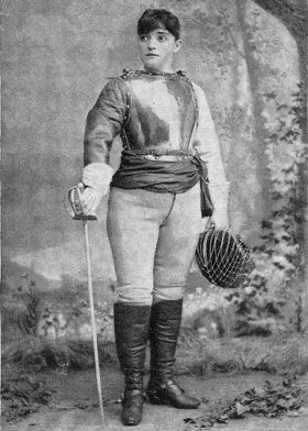 Think a woman couldn't beat a man in a sword fight? This is La Jaguarina aka Ella Hattan, an expert not only with the sword but with the broadsword on horseback. She defeated a string of male opponents, most notably Sgt. Owen Davis of the U.S. Cavalry in 1887. #HistoricalRomance