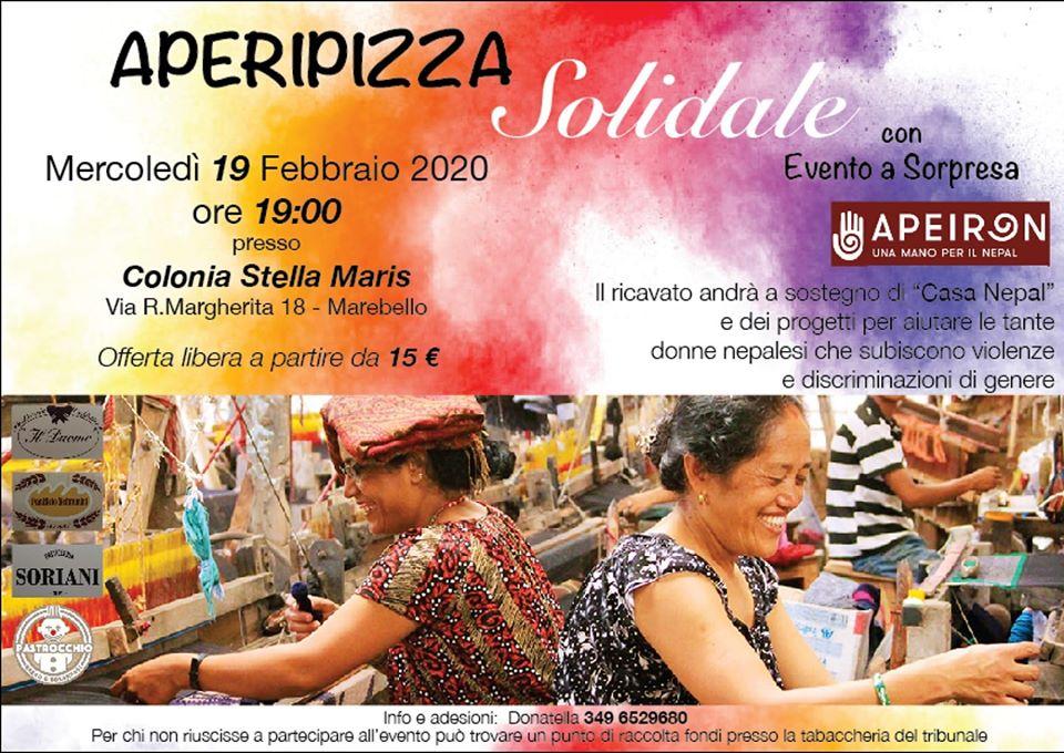 #Eventi: di @ApeironOnlus , APERIPIZZA Solidale, 19 febbraio, ore 19, Colonia Stella Maris, Via R. Margherita 18, #Marebello (RN). Eventi #solidali by http://www.xlestrade.org/eventi/pic.twitter.com/iiF97OkqAf