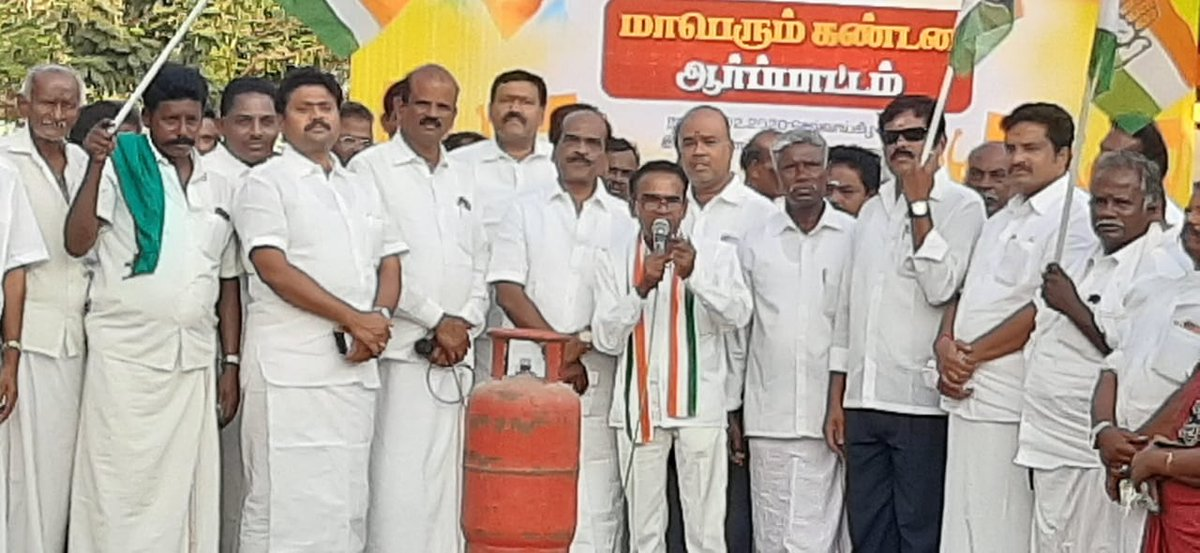 @RahulGandhi  Speaking At Agitation Against Modi ' s  Atrocities With Common Peoples' Cooking Gas Price incresing Terribly,.... At Pudukkottai Tamilnadu. pic.twitter.com/Y5QXGZghdp