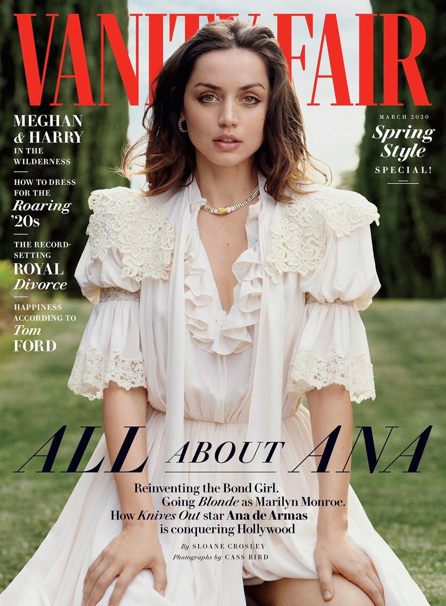 NO TIME TO DIE's @Ana_d_Armas on the cover of @VanityFair. #NoTimeToDie