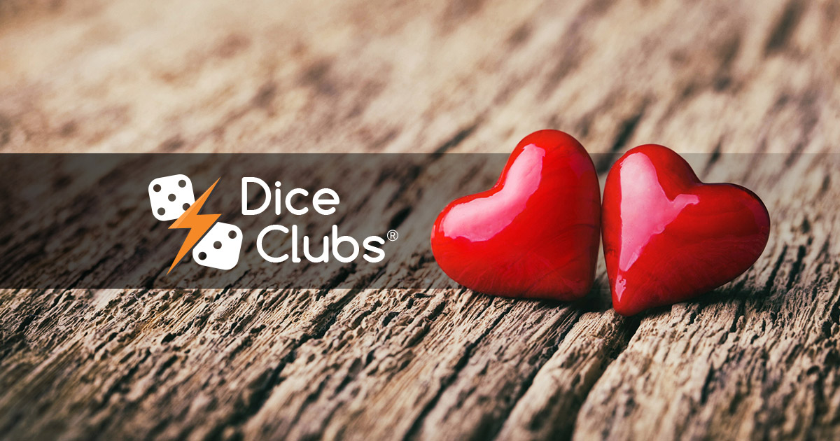 J'ai un nouvel ami dans Dice Clubs!  https://diceclubs.com #diceclubs #diceduel #valentinesday #love #amour #valentinesday2020