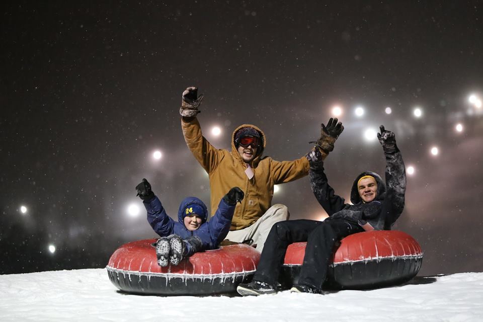Snow Tubing from 6-10 PM, a bonfire and an all-you-can-eat buffet of pizza, hot dogs, fountain drinks and hot chocolate for just $26 per person! Don't miss the Tube-A-Palooza Party TONIGHT!  Tickets: https://bit.ly/2HcZJsjpic.twitter.com/PnwDcF2kt9