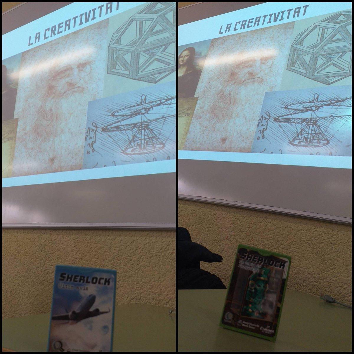 Dando talleres sobre Creatividad a alumnos de secundaria con la ayuda de los juegos Sherlock. #juegosdemesa #jocsdetaula #jocs #boardgames #brettspiele #jeuxdesociete pic.twitter.com/xP8bCKpUkm