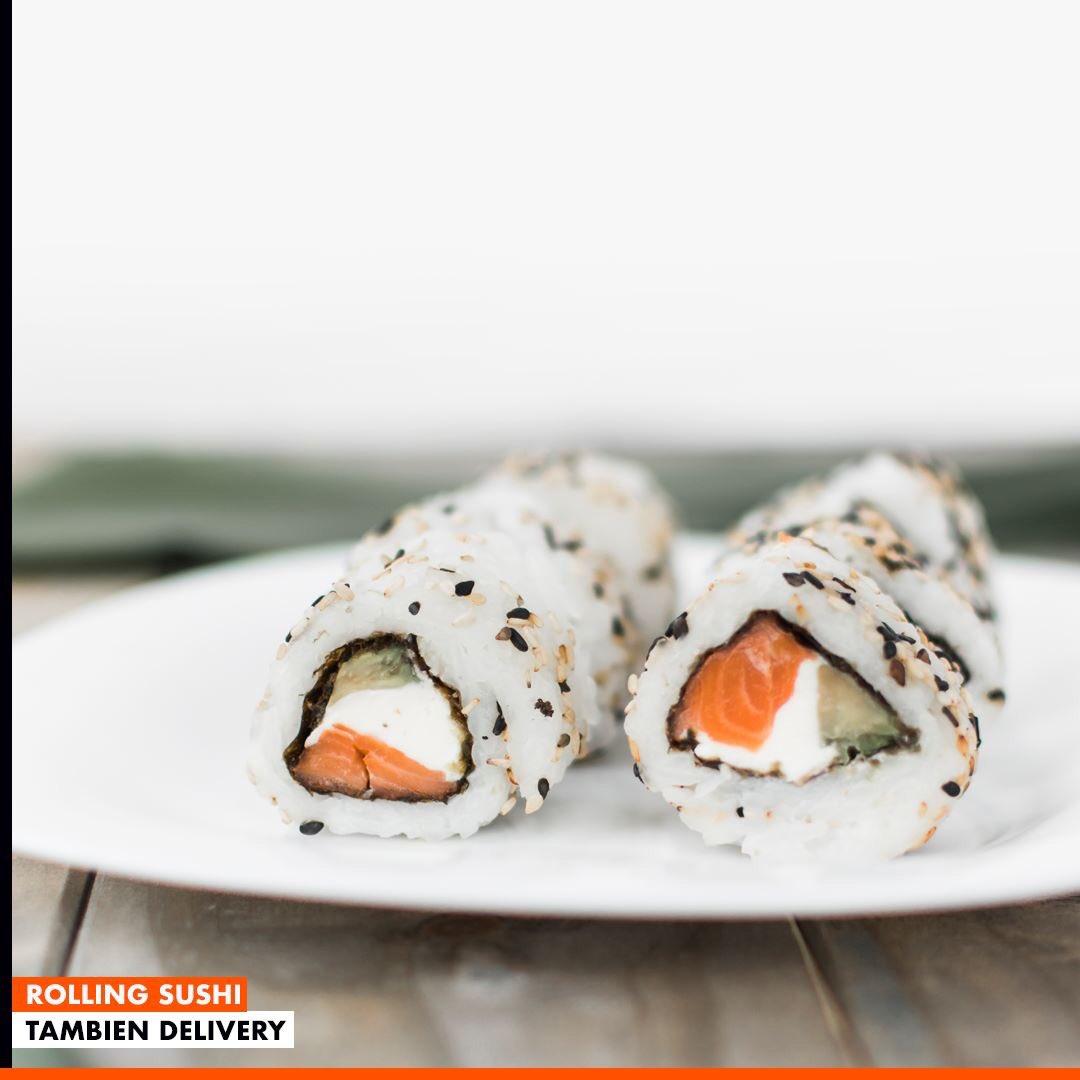 PIDE TU PROMO DE SUSHI AL ALMUERZO 😋🍥 Nuestra carta  📲 HAZ TU PEDIDO YA +56 9 8744 0285 🍣🍱📍 Avda. Americo Vespucio #1076 Local 5, esquina El Rosal, Maipú #sushi #rolls