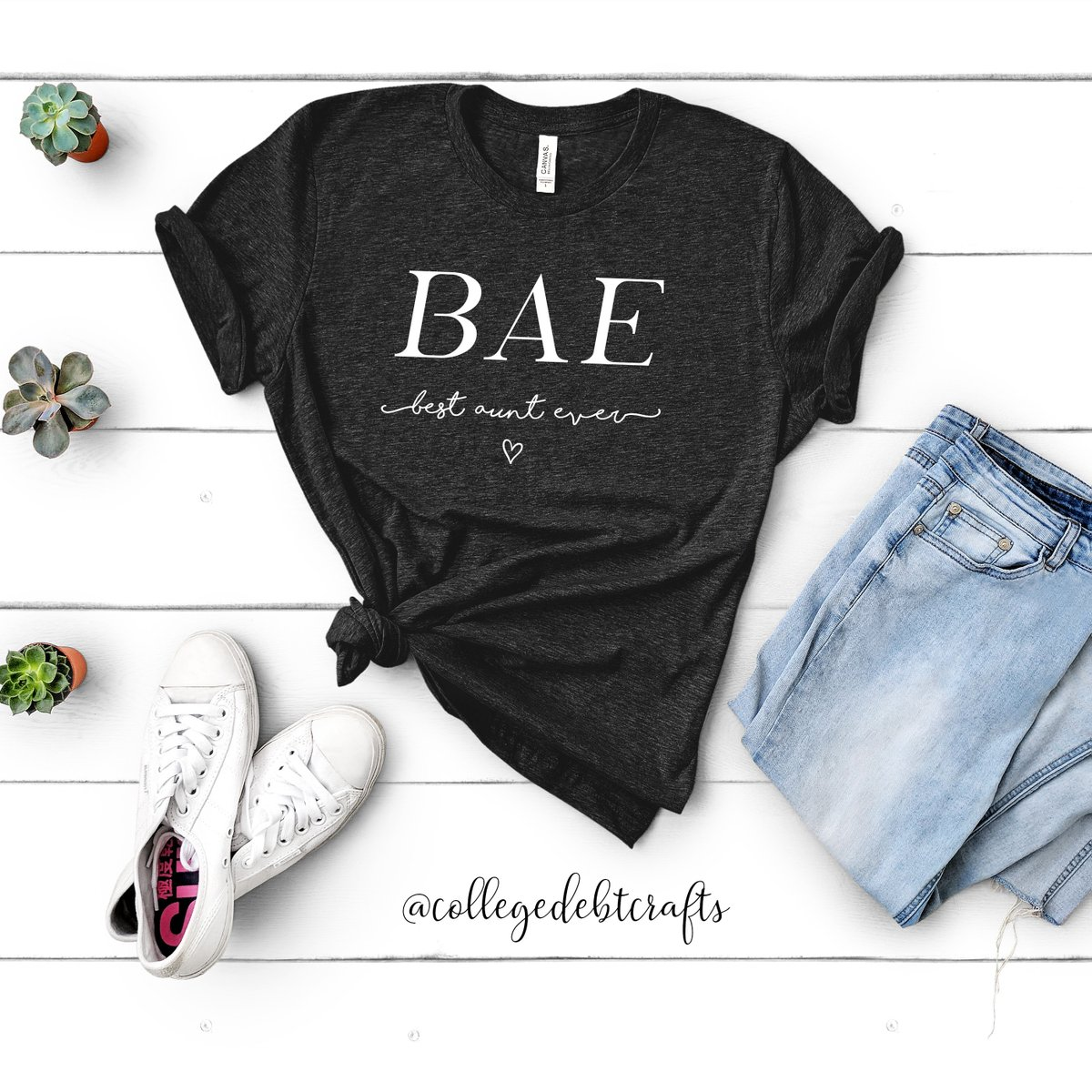 BAE 🖤 Best Aunt Ever - Get this shirt here....  - #collegedebtcrafts #indy #shoplocal #flatlay #etsysellersofinstagram #indybossbabe #lifestyle #etsy #etsyshop #aunt #auntlife #ootd